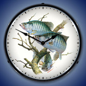 Crappies Lighted Wall Clock
