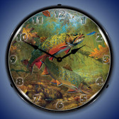 American Beauties Trout Lighted Wall Clock