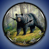 Woodland Morning Bear Lighted Wall Clock