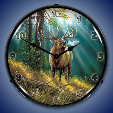 Calling All Challengers Elk Lighted Wall Clock