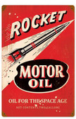 Retro Rocket Motor Oil Metal Sign  12 x 18 Inches