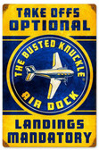 Retro Air Dock Metal Sign  12 x 18 Inches
