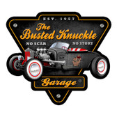 Retro Rat Rod Custom Metal Shape Sign  15 x 14 Inches