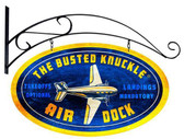 Retro Air Dock Metal Double Sided Sign