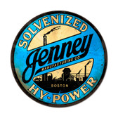 Retro Jenny Hy Power Round Metal Sign 14 x 14 Inches