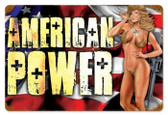 Vintage-Retro American Power Pinup Metal-Tin Sign