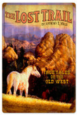 Retro Lost Trail Metal Sign 16 x 24 Inches
