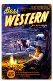 Retro Western Cowboy Vintage Metal Sign 12 x 18 Inches