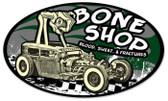 Vintage-Retro Bone Shop Oval Metal-Tin Sign