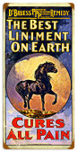 Retro Best Liniment Vintage Metal Sign 12 x 24 Inches