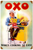 Retro OXO Cook Vintage Metal Sign 12 x 18 Inches
