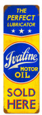 Retro Ivaline Motor Oil Vintage Metal Sign 8 x 24 Inches