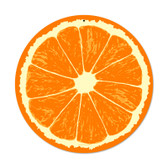Retro Orange Round Metal Sign 14 x 14 Inches