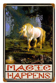 Magic Happens Vintage Metal Sign 12 x 18 Inches