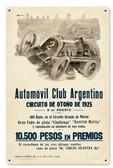 Retro Argentina Grand Prix Metal Sign 16 x 24 Inches