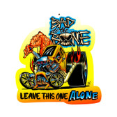 Retro Bad to the Bone Custom Metal Shape 18 x 18 Inches