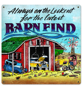 Retro Barn Finds Metal Sign 18 x 18 Inches