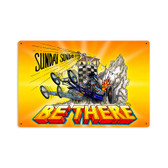 Retro Be There Metal Sign 18 x 12 Inches