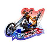 Retro Freedom Flyer Custom Metal Shape 17 x 15 Inches