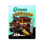 Retro Gimme Shelter Metal Sign 12 x 15 Inches