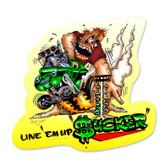 Retro Line Em Up Custom Metal Shape 16 x 17 Inches