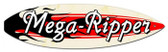 Vintage-Retro Mega Ripper Surfboard Metal-Tin Sign