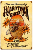 Retro Board Track Vintage Metal Sign 16 x 24 Inches