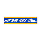 Retro Hot Rod Hwy Metal Sign 28 x 6 Inches