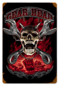 Vintage-Retro Gearhead Metal-Tin Sign