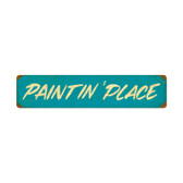 Retro Paintin Place Vintage Metal Sign 28 x 6 Inches