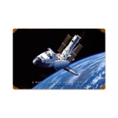 Retro Space Shuttle Vintage Metal Sign 12 x 18 Inches