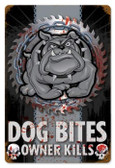 Vintage-Retro Dog Bites Metal-Tin Sign