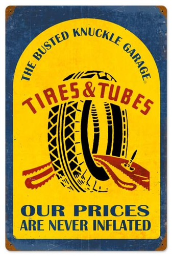 Vintage-Retro Tire Repair Metal-Tin Sign