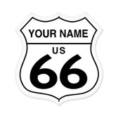 Retro Route 66 Shield Metal Sign 28 x 28 Inches - Personalized