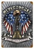 Vintage-Retro Fallen Heroes Metal-Tin Sign