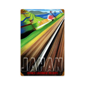 Retro Japan Railways  Metal Sign 12 x 18 Inches