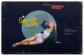 Retro American Beauty Metal Sign 18 x 12 Inches