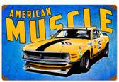 Retro Mustang Wild America  Metal Sign