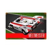 Retro Porsche Weltmeister  Metal Sign 18 x 12 Inches