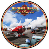 Retro Air Races Round Metal Sign
