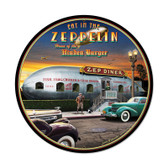 Retro Zepplin Round Metal Sign 28 x 28 Inches