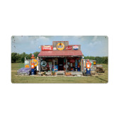 Retro Vintage Gas Station  Metal Sign 24 x 12 Inches