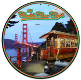 Cable Car Round Metal Sign 14 x 14 Inches