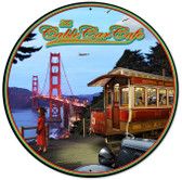 Cable Car Round Metal Sign 28 x 28 Inches