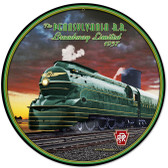 Pennsylvania Rail Road Round Metal Sign 14 x 14 Inches