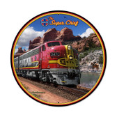 Super Chief Round Metal Sign 28 x 28 Inches