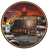Brown Derby Automotive Metal Sign 14 x 14 Inches