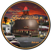 Brown Derby Automotive Metal Sign 28 x 28 Inches