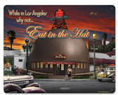 Brown Derby Automotive Metal Sign 15 x 12 Inches