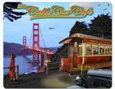 Cable Car Cafe Metal Sign  15 x 12 Inches